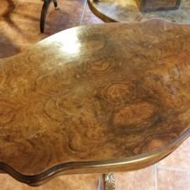 Tavolino da te in noce stile Luigi Filippo epoca tardo 800
