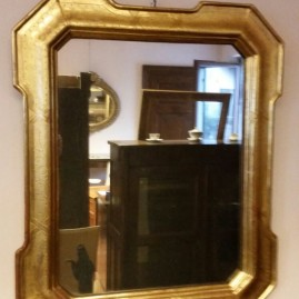 Specchio in foglia d'oro '800