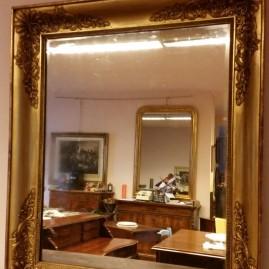 Specchio in oro a foglia epoca metà 800