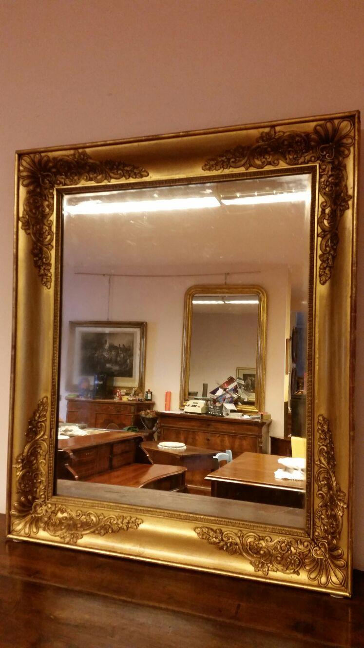 Specchio in foglia d 39 oro 39 800 antichit e restauro turco verona bovolone - Specchio in francese ...